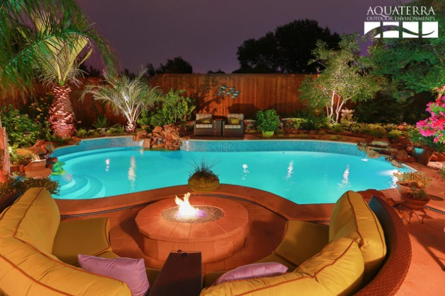 20 sophisticated outdoor fire pit designs near the for Az pond and pool