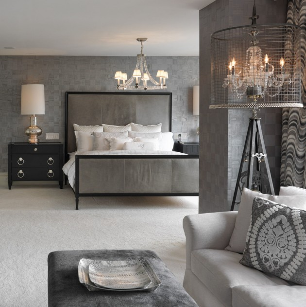 Gorgeous Gray And White Bedrooms: 15 Delightful Transitional Bedroom Designs To Get