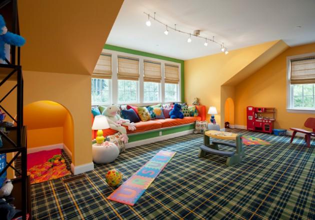 Comfortable Attic Playroom Design Ideas