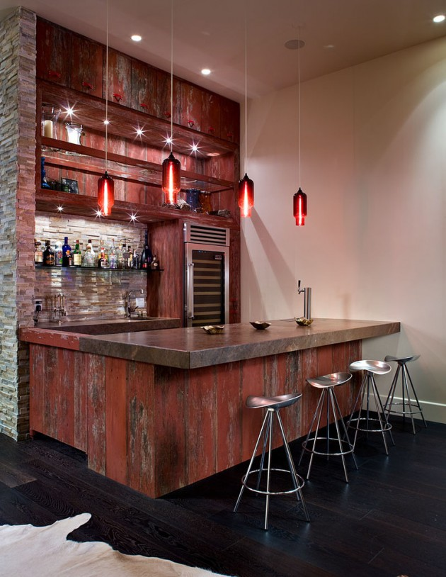 16 amazing contemporary home bars for the best parties for Modern bar designs for home