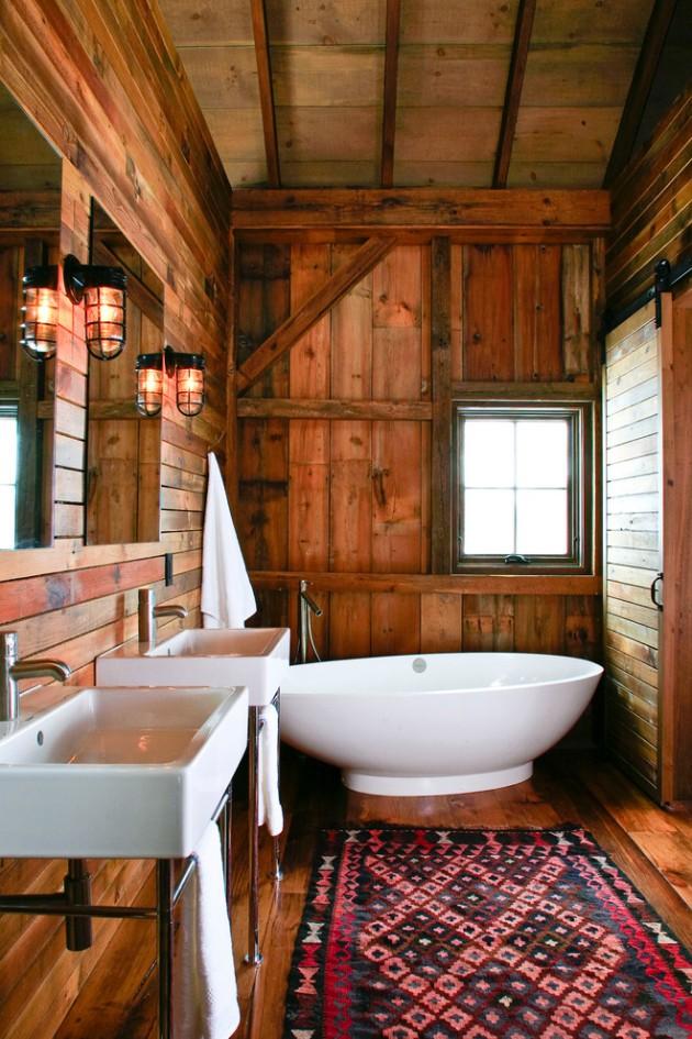 16 Extraordinary Fresh Rustic Bathroom Interior Designs