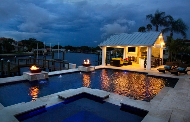 16 unbelievable transitional swimming pool designs your for Pool design tampa