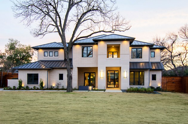 16 wicked transitional exterior designs of homes you 39 ll love Transitional contemporary