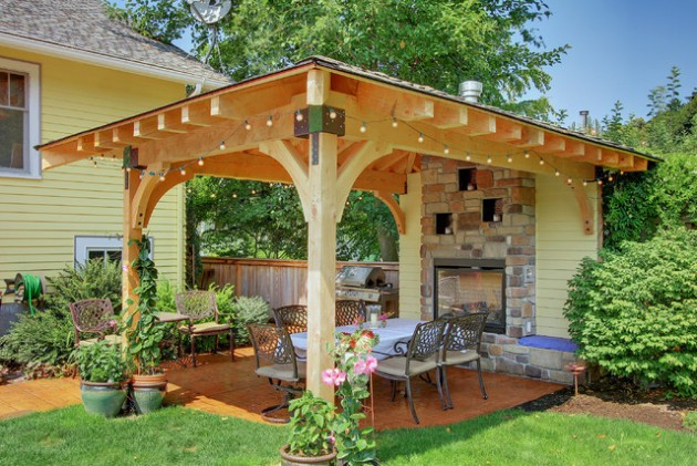 18 Majestic Covered Patio Design Ideas To Enjoy In The Hot ... on Backyard Covered Patio Designs id=41387