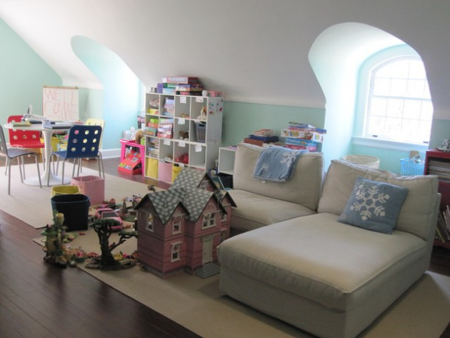Playroom Design Ideas design 20 Comfortable Attic Playroom Design Ideas
