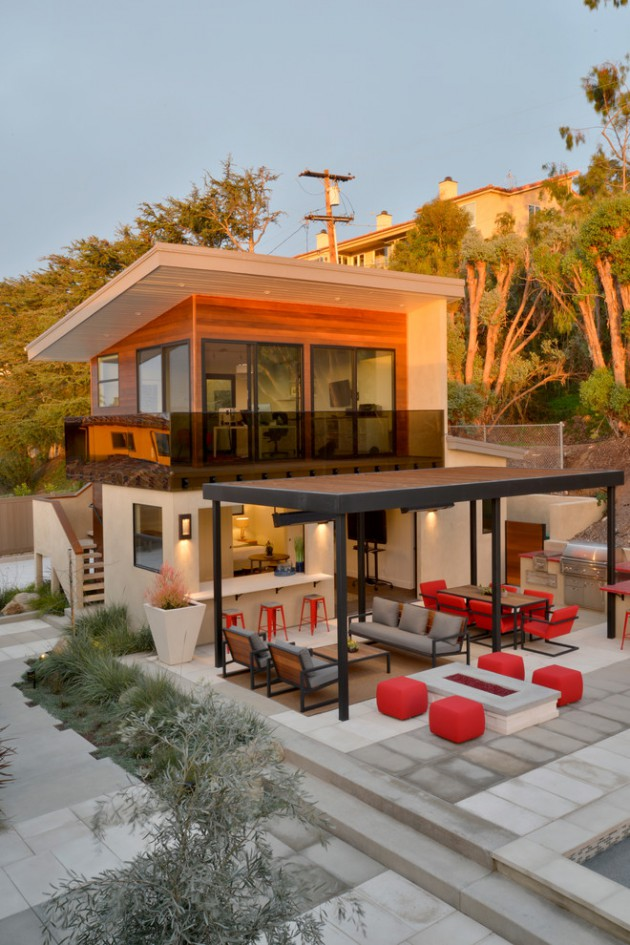 20 Marvelous Contemporary Home Exterior Designs Your Idea Book Must Have 14 630x945 - View Small House Front Arch Design  PNG