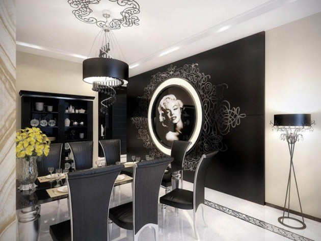 12 Delightful Dining Rooms With Interesting Wall Decor Ideas