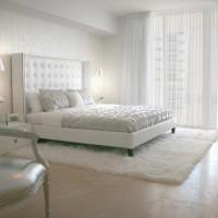 Elegant White Bedroom Rug Curtain Classic Chair Russian Interior Design