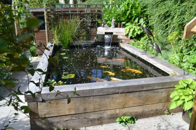 Attracitve fish pond in your backyard 23 impressive ideas for Garden pond waterfalls for sale