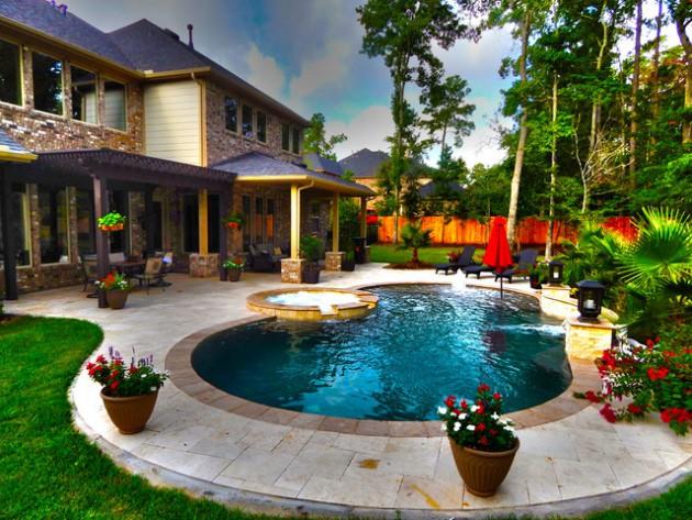 19 Astonishing Concrete Pool Deck Designs
