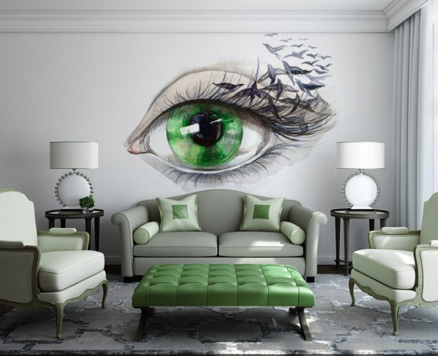 Wall Mural Ideas refreshing wall mural ideas for your living room