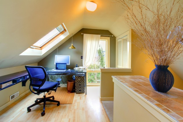 16 Alluring Home Office Deisngs With Skylights