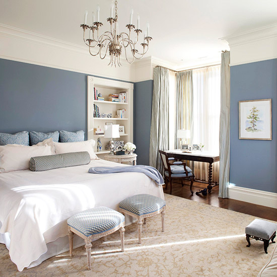 21 pastel blue bedroom design ideas - Blue And White Bedroom Designs