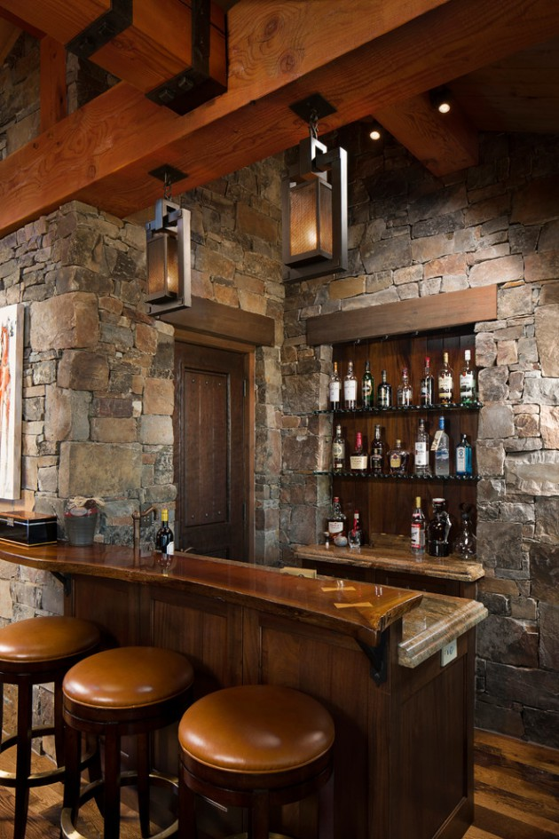 16 awe inspiring rustic home bars for an unforgettable party Residential bar design ideas