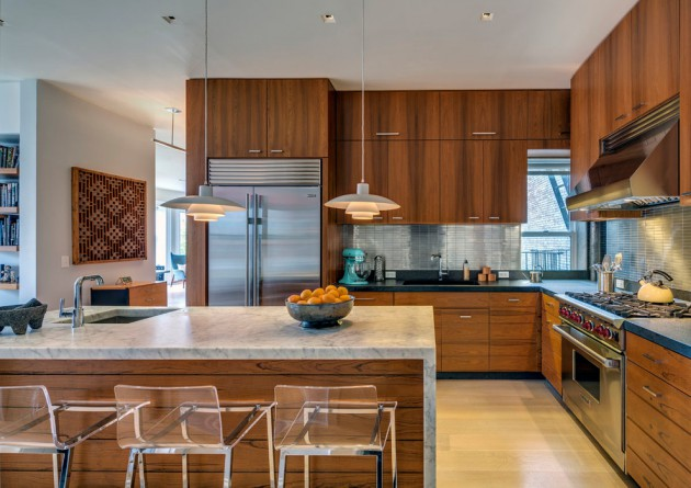 charming colorful kitchen designs | 16 Charming Mid-Century Kitchen Designs That Will Take You ...