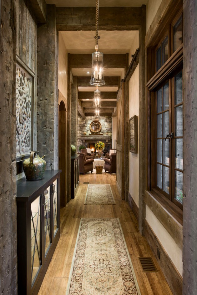 15 Beautiful Modern Foyer Designs That Will Welcome You Home: 16 Great Rustic Hallway Designs That Will Give You Amazing Ideas