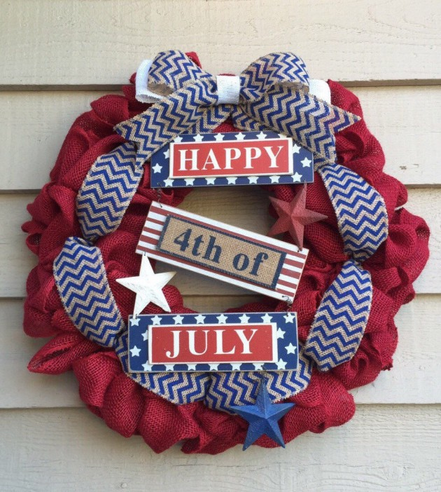 16 Patriotic Handmade 4th Of July Wreaths That You Can Easily Make By Yourself