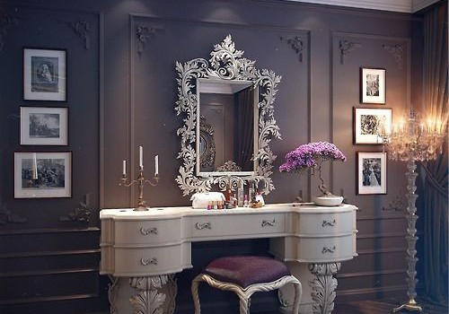 16 Gorgeous Vintage Make-Up Vanity Design Ideas