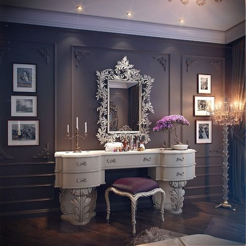 16 gorgeous vintage make up vanity design ideas - Vanity Design Ideas