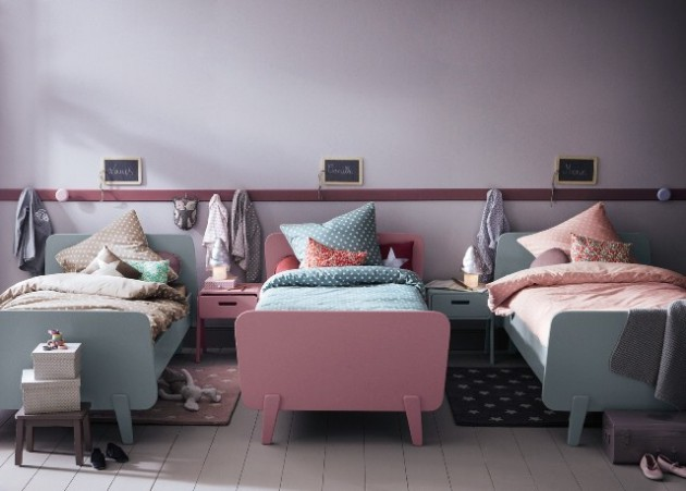 20 efficent solutions for decorating triplet bedroom for Chambre 3 filles