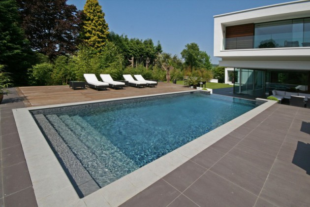 19 Astonishing Concrete Pool Deck Designs