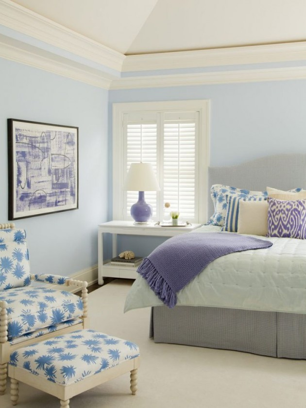 21 pastel blue bedroom design ideas for Lavender room color