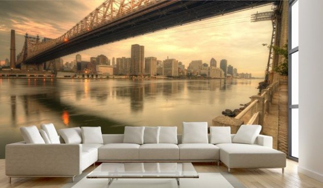 living room mural ideas 15 refreshing wall mural ideas for your living room 16076
