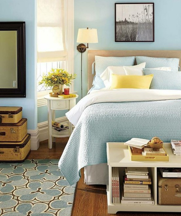Decorating With Colour: 21 Pastel Blue Bedroom Design Ideas