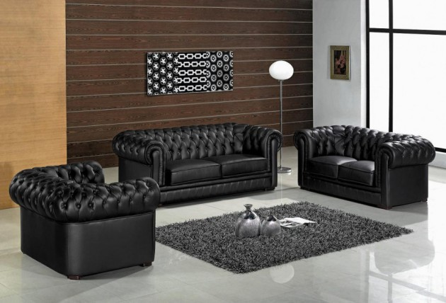 15 Cly Leather Sofa Set Designs