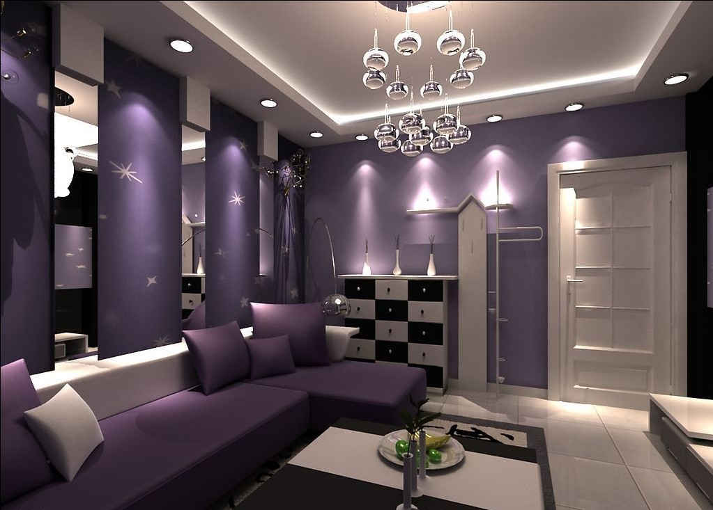 19 phenomenal purple living room design ideas for Living room ideas purple