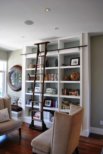 Home Library Ladder: 17 Creative Built-In Bookcase Design Ideas