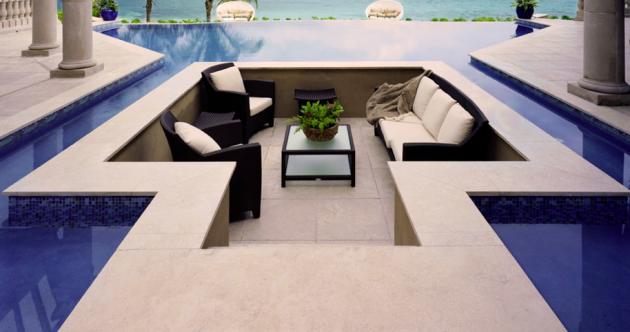 Sunken Above Ground Pool Deck Ideas