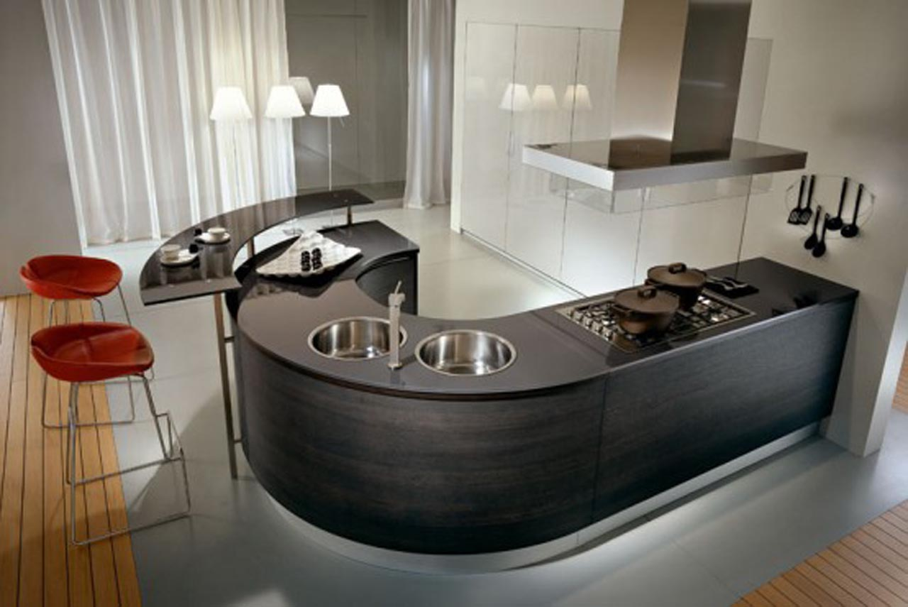 14 Cly Rounded Kitchen Designs For Stylish Home