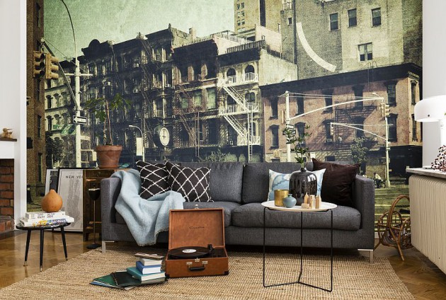 15 Refreshing Wall Mural Ideas For Your Living Room Part 36