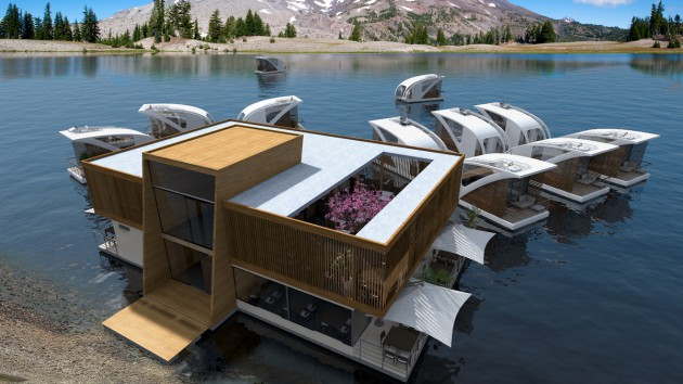 Floating Hotel With Catamaran Apartments by Salt & Water