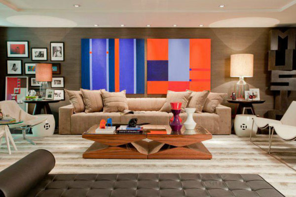 17 Stunnign Ideas for Artictic Living Room