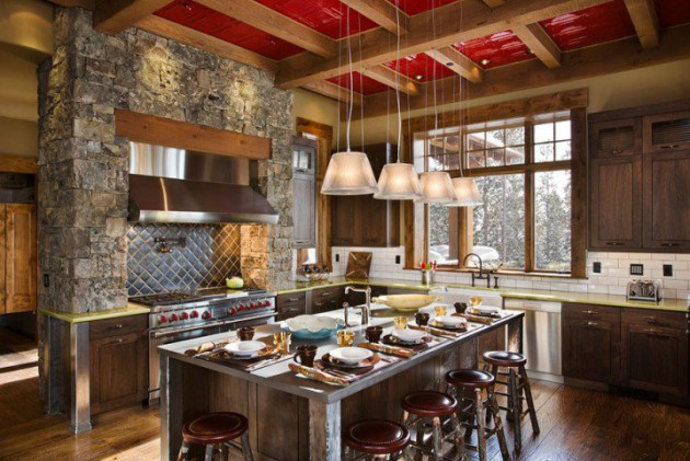 charming colorful kitchen designs | 15 Charming Modern Rustic Kitchen Design Ideas