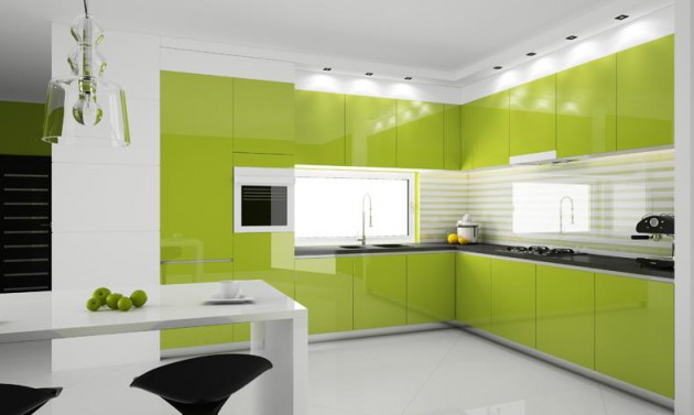 16 Lively Green Kitchen Design Ideas