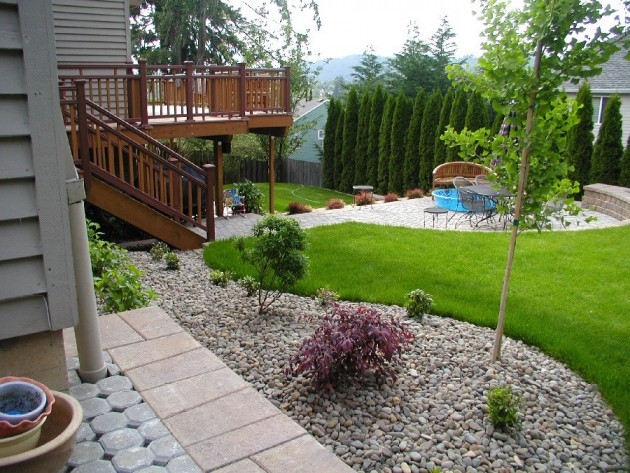 Simple Backyard Design simple backyard patio decorating ideas on a budget with wooden deck 16 Simple But Beautiful Backyard Landscaping Design Ideas