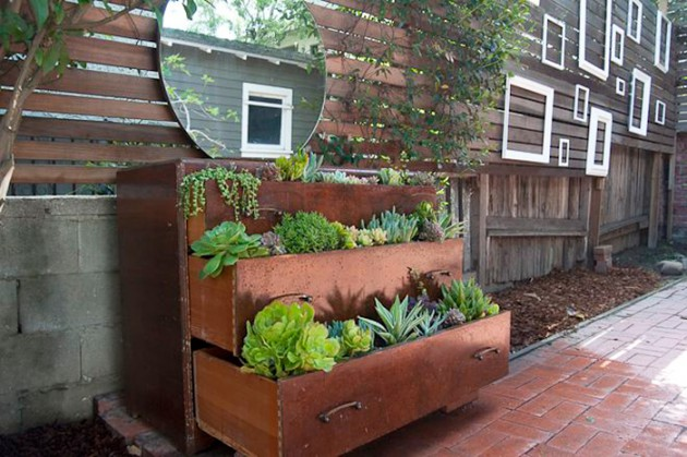 19 Inspirational Ways To Repurpose Old Furniture To Beautify Your Garden