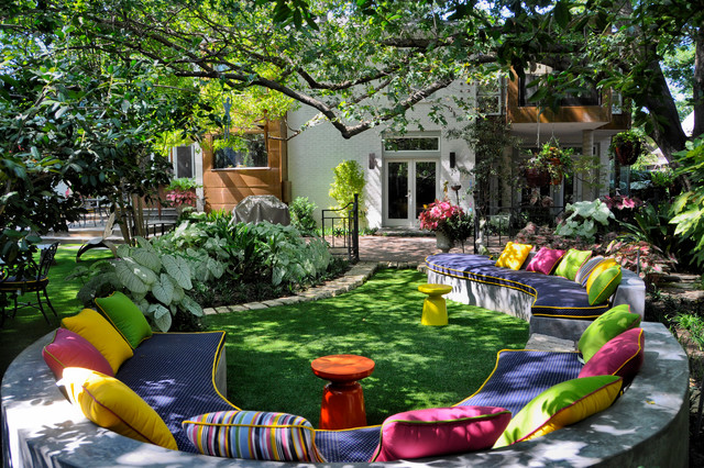 16 Breathtaking Eclectic Garden Designs Shining With Cool ... on Cool Backyard Decorations id=38589