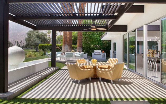 16 Sensational Mid-Century Patio Designs To Improve Your ... on Mid Century Modern Patio Ideas id=70671