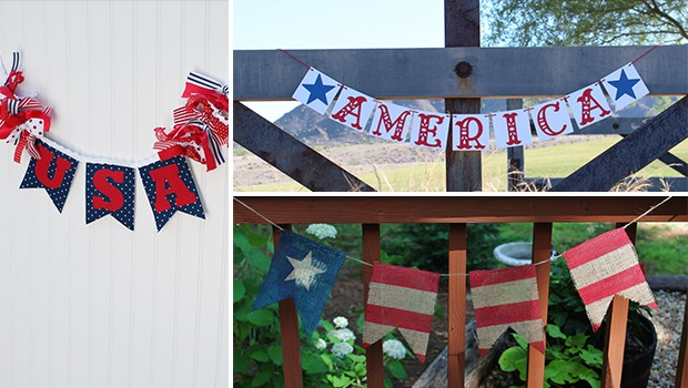 17 Creative Handmade 4th of July Banners As Patriotic Decorations