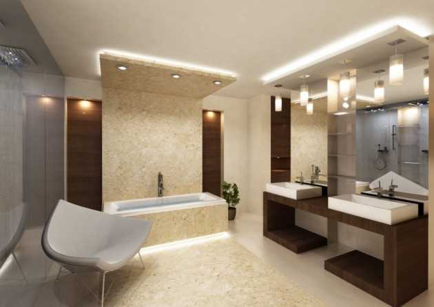 Best 20 Bathroom Ceiling Light Fixtures Ideas On: 17 Extravagant Bathroom Ceiling Designs That You'll Fall