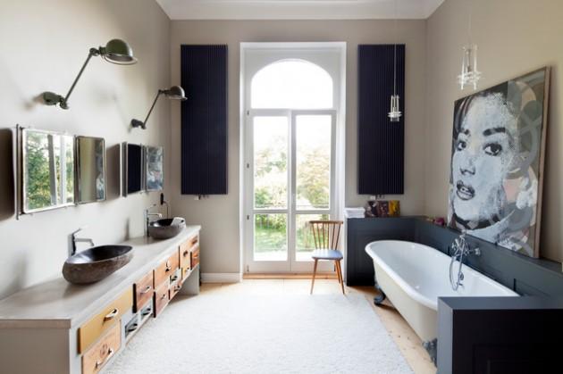 Bathroom ideas: Soft Industrial bathrooms | VictoriaPlum.com