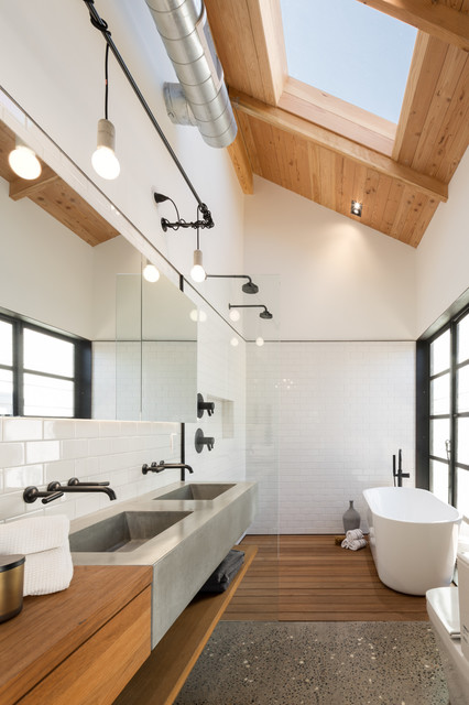18 Excellent Industrial Bathroom Designs With Great Interior Ideas