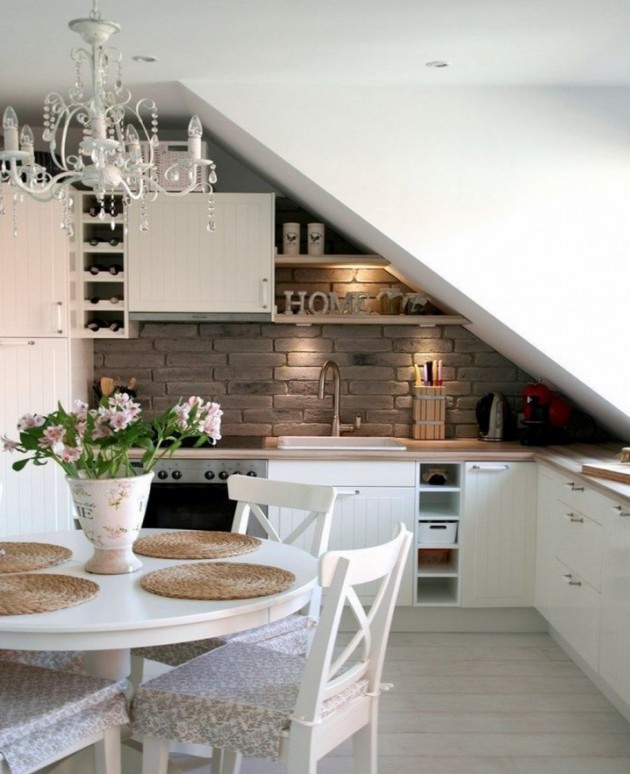 19 Cool Attic Kitchen Design Ideas