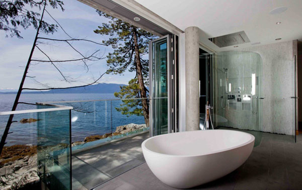 18 gorgeous bathrooms with amazing view for Amazing bathrooms