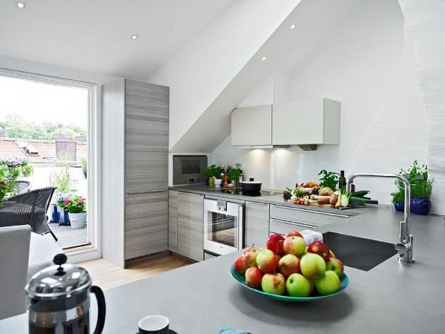 19 Cool Attic Kitchen Design Ideas