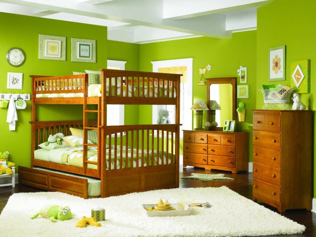 18 Fresh Green Childs Room Design Ideas